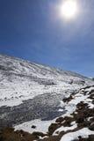 Sole al Sikkim del nord allo zero assoluto. Fotografia Stock Libera da Diritti
