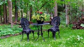 Allocation des places d'été dans une forêt verte Photographie stock