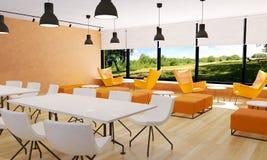 Allocation des places dans l'intérieur moderne de restaurant Photos libres de droits