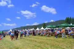 Allocation des places de champ de foire de montagnes de Rhodope, Bulgarie Images stock