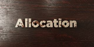 Allocation - grungy wooden headline on Maple  - 3D rendered royalty free stock image. This image can be used for an online website banner ad or a print Stock Images
