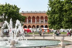 Alloggi Amulea nella grande piazza del della Valle di Prato anche conosciuta come il ` Duodo Palazzo Zacco di Ca a Padova Fotografie Stock Libere da Diritti