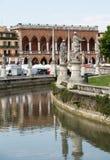 Alloggi Amulea nella grande piazza del della Valle di Prato anche conosciuta come il ` Duodo Palazzo Zacco di Ca a Padova Fotografia Stock