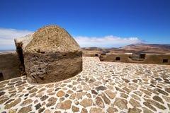 alloggi Arrecife spagna il vecchi castello e porta della parete a teguise Immagini Stock Libere da Diritti