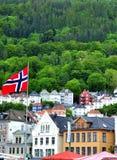 Alloggi a Bergen Fotografia Stock
