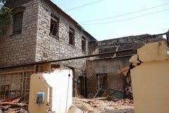alloggi che è stato demolito Fotografia Stock