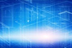 Alloggi 3d il progetto, progettazione in struttura del wireframe del modello Immagini Stock Libere da Diritti