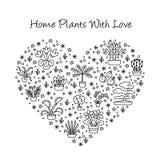 Alloggi il concetto delle piante per il negozio del Garden Center, del fiore & di fiorista dentro Fotografia Stock