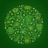 Alloggi il concetto delle piante per il negozio del Garden Center, del fiore & di fiorista G Immagine Stock Libera da Diritti