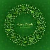 Alloggi il concetto delle piante per il negozio del Garden Center, del fiore & di fiorista G Fotografia Stock Libera da Diritti