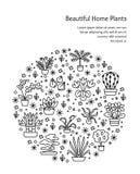 Alloggi il concetto delle piante per il negozio del Garden Center, del fiore & di fiorista V Fotografia Stock Libera da Diritti