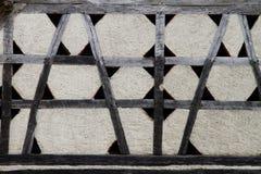 Alloggi il dettaglio di mezza casa armata in legno al ecomusee nell'Alsazia Fotografia Stock