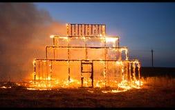 Alloggi il fuoco Immagine Stock Libera da Diritti