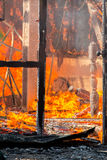 Alloggi il fuoco Fotografie Stock Libere da Diritti