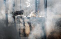 Alloggi il fuoco Fotografia Stock Libera da Diritti