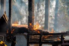 Alloggi il fuoco Fotografia Stock