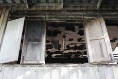 Alloggi il fuoco Conflagrazione di immagini del dettaglio da una casa Fotografie Stock