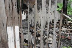 Alloggi il fuoco Conflagrazione di immagini del dettaglio da una casa Fotografia Stock Libera da Diritti