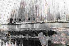 Alloggi il fuoco Conflagrazione di immagini del dettaglio da una casa Immagine Stock