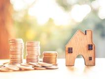 Alloggi il modello nel piano di risparmio per la residenza della gente nella società, p Fotografia Stock