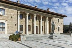 Alloggi il museo ed il monumento del capo comunista Georgi Dimitrov in villaggio di Kovachevtsi, Bulgaria Immagine Stock