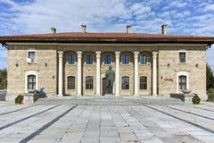 Alloggi il museo ed il monumento del capo comunista Georgi Dimitrov in villaggio di Kovachevtsi, Bulgaria Immagini Stock Libere da Diritti