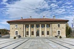 Alloggi il museo ed il monumento del capo comunista Georgi Dimitrov in villaggio di Kovachevtsi, Bulgaria Fotografie Stock
