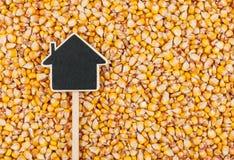 Alloggi il puntatore, le bugie del prezzo da pagare su cereale Immagini Stock Libere da Diritti