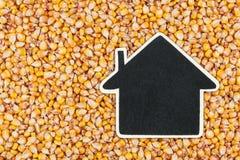 Alloggi il puntatore, le bugie del prezzo da pagare su cereale Immagini Stock