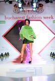 Alloggi l'accumulazione del magnesio delle pellicce durante il modo di Bucarest Fotografie Stock