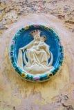 Alloggi l'icona di Madonna e del bambino, Malta Fotografia Stock