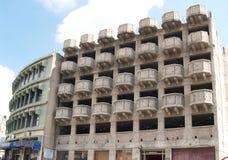 Alloggi la costruzione nella città di Nazaret, Israele Immagini Stock