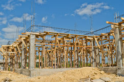 Alloggi la costruzione in via di sviluppo Fotografia Stock Libera da Diritti
