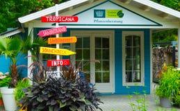 Alloggi la decorazione sull'isola di Mainau in Germania Fotografie Stock Libere da Diritti