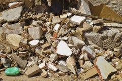 alloggi la demolizione, le rovine, Brihuega, Spagna Fotografia Stock Libera da Diritti
