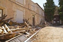 alloggi la demolizione, le rovine, Brihuega, Spagna Immagine Stock Libera da Diritti