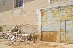 alloggi la demolizione, le rovine, Brihuega, Spagna Fotografia Stock