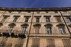 Alloggi la facciata nella vecchia città di Roma Fotografia Stock Libera da Diritti