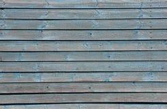 Alloggi la parete con le plance blu-chiaro misere, struttura Immagine Stock