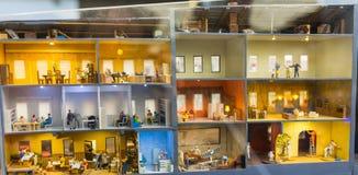 Alloggi la sezione, il museo di Gran-derisione è la città di St Petersburg Fotografie Stock