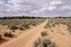 Alloggi la strada della valle della roccia in deserto, Utah Fotografia Stock Libera da Diritti