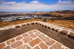 Alloggi la torre e la porta della sentinella di Arrecife Lanzarote a teguise Fotografie Stock Libere da Diritti