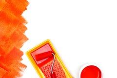 Alloggi la vista piana degli strumenti del rinnovamento su fondo bianco Fotografia Stock Libera da Diritti
