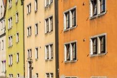 Alloggi le facciate nel der Tauber, Germania del ob di Rothenburg Immagine Stock Libera da Diritti