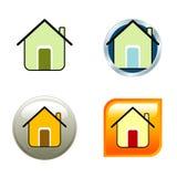 Alloggi le icone Fotografie Stock