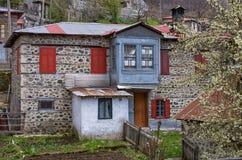 Alloggi nel bello villaggio dei Milia, vicino a Metsovo, la Grecia Fotografia Stock Libera da Diritti
