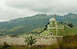 Alloggi nelle montagne delle Ande Fotografia Stock