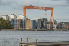 Alloggi nuovi nell'area di Eriksberg a Gothenburg Fotografia Stock