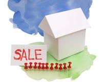 Alloggi per la vendita cinque Immagini Stock