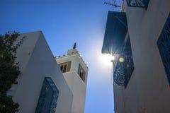 Alloggi Sidi Bou Said di Tunisi Immagine Stock